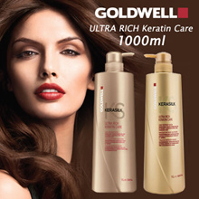 ♥ 1000ML GOLDWELL KERASILK ULTRA RICH KERATIN CARE SHAMPOO/CONDITIONER