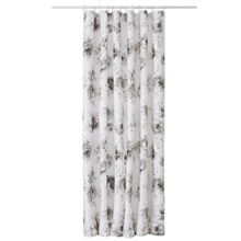 Ikea AGGERSUND Shower curtain, gray, white, 71x71