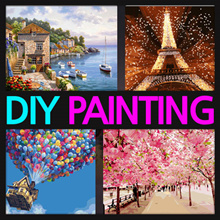 ★DIY Canvas Painting★DIY Oil Painting by Numbers 400 designs Top Quilty! Self Interior Design Decoration Children Art