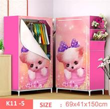 Rak Baju 3D Lemari Portable Tempat Pakaian Wardrobe Cloth Motif SJ0158