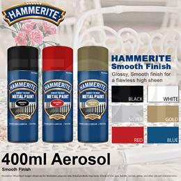 HAMMERITE Smooth Finish Hammered and Satin Finish Aerosol 400ml
