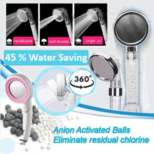 [Japan Import ] 360 life High Pressure Showerhead Save Water 45% Efficiency [button control]