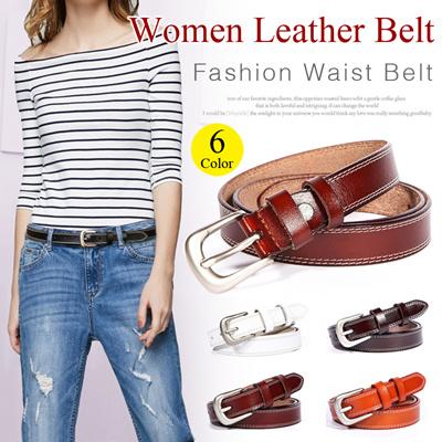 403db6254a Lady Leather Belt Womens Waist Belt Classic Belts Metal Buckle Thin Ladies