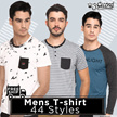 [Launching Promotion] Men T-Shirt-Slim fit T-Shirt-Best Collection - 44 styles