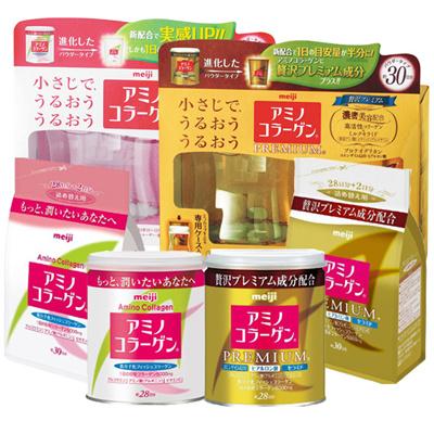 Meiji Amino Collagen / Amino Premium Collagen 5000mg cans 200g / 214g / Refill / Collagen