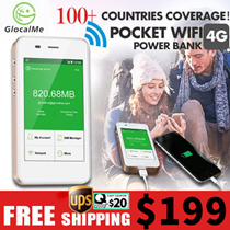 【Cheapest in Qoo10】UPS free shipping GlocalMe 4G Mobile Wifi Hotspot 100 countries coverage 1GB free