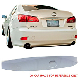 Pre-painted Trunk Spoiler Fits 2006-2013 Lexus IS250 350 | IK Style ABS Painted #074 Glacier Frost T