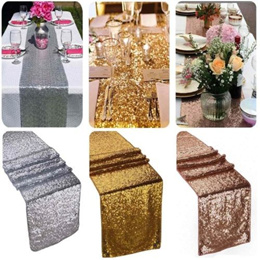 12 x 72 Inches Rainbow Sequins Table Runner Handmade Colorful Rectangle Placemats for Wedding Summer Party Holiday Table Setting Decor