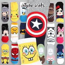 ★★INTYPE SOCKS [ BUY5+GIFT1 / 30+7 ] DISNEY MARVEL Authentic / Korean Best Selling Socks collection