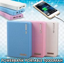 [Power Bank] ★HOT ITEM No.1 In KoreaSingaporeJapan★PowerBank Portable Charger USB| 12000MAH LIMITED