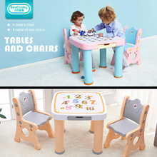 Kids Learning Table with 2 Chairs / Desk and chair set