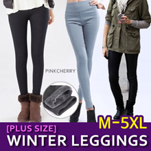 [PLUS SIZE] M-5XL / Winter Leggings for  -10 Degree/Pants]★★ Winter Pants/Winter Wear/Mink Fur Leggi