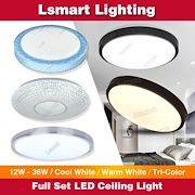 Full Set LED Ceiling Light ★ Magnet LED Light With Cover★12W to 36W ★Cool White★Warm White★Tri-Color