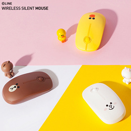 [Line Friends] Wireless Mouse (Noiseless) 2.4GHz / gaming / Logitech / PC / Portable Notebook