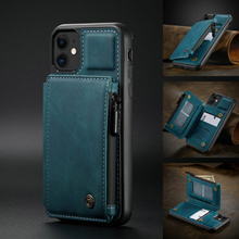 CaseMe Retro Leather Case For iPhone 12 11 Pro Max Card Slots Wallet Stand Back Cover