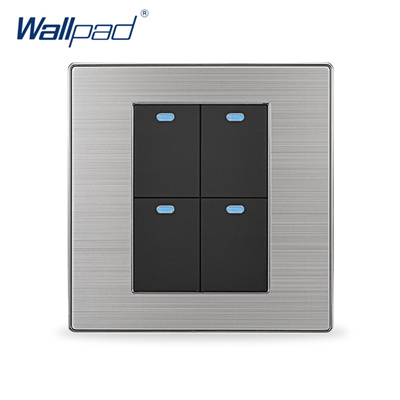 2019 Hot Sale 4 Gang 2 Way Wallpad Luxury LED Wall Light Switch Push Button  Switches Interrupteur 10
