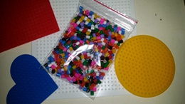 Rainbow colour mixed Pyssla beads refill and board n ironing wax paper n enhance color for skin