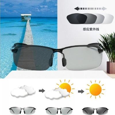 fbf77b535b1 3 Colors Driving Photochromic Sunglasses Men Fashion Polarized Chameleon  Discoloration Sun Glasses f