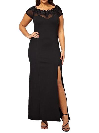 Черные вечерние платья для полных девушки в обтягивающих платьях мини видео