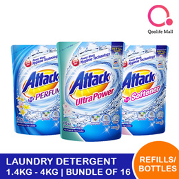 [Kao]【Bundle of 16 refills or 6 bottles】Attack liquid laundry detergent 1.4kg - 4kg