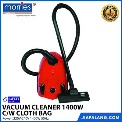 MORRIES VC1801 VACUUM CLEANER 1400W C/W CLOTH BAG
