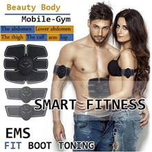 [Little Red]EMS Muscle Stimulator Abs Trainer Body Fitness Training Slimming Massager Machine SIXPAD