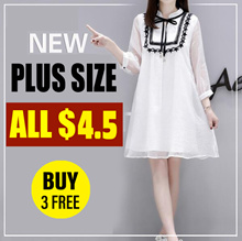 BUY 3 FREE / Clearance sale 4.9 ! 2018 NEW PLUS SIZE FASHION LADY DRESS BLOUSE