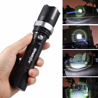 High Bright Black 10000 Lumens XML-T6 LED Flashlight Portable Torch Lamp 3  Modes Light for Outdoor C