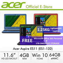 [Student Selection] Acer Aspire ES11 (ES1-132) Ultrathin Laptop (Black/Blue/Red) [Online Exclusive]