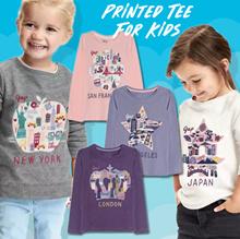 New! Printed Tee For Kids - 12 Motif - Good Material - Baju Anak