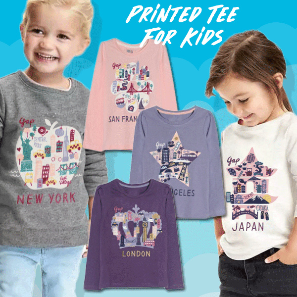 New! Printed Tee For Kids Deals for only Rp50.000 instead of Rp50.000