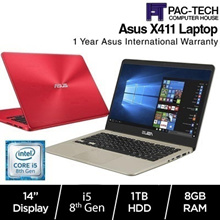 New Asus Vivobook X411UA| i5-8th Generation| 8GB RAM 1TB HDD |14 Inch Anti Glare|1 Year Warranty|