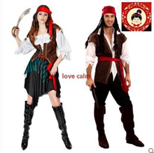 Lin Fang 460gcosplay Party Halloween performance Pirates Captain Jack costume Pirates of the Caribbe