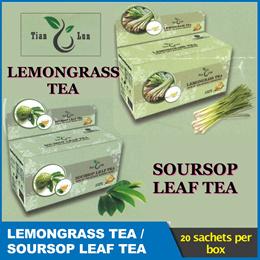 TIAN LUN *SOURSOP LEAF TEA/ LEMONGRASS* 20 tea bags/box