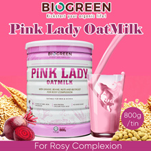 [1+1] Biogreen Pink Lady Oatmilk. High in Fiber. Perfect drink for ladies. Source of iron folic acid