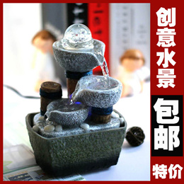 Mail Office of the small fountains water fountain display tables desktop creative decoration deco