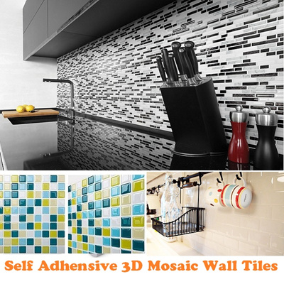 qoo10 - mosaic adhesive tile : furniture & deco