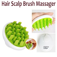 marina Olga Hair Scalp Silicon Shampoo Brush Massager/Relax Silicon Head Brush/Anti-hair loss