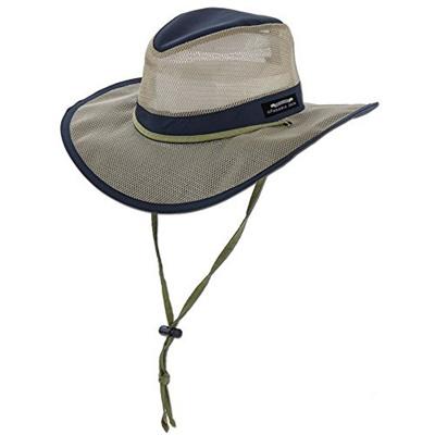 36253d423 Panama Jack Hat - Mesh Safari Hat, Big Brimmed, Supplex, Sun Hat (Large,  Navy)