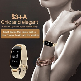 Bluetooth Fashion Smart Watch S3 Sports Bracelet Women Wristband with Heart Rate Monitor Fitness Tra