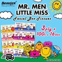 Beautex Mr. Men Little Miss 3ply Box Tissues (16 Boxes x 100 Sheets)