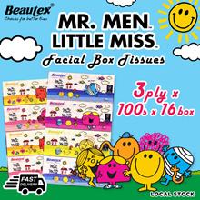 Beautex Mr. Men Little Miss 3ply Box Tissues (16 Boxes x 100 Sheets)