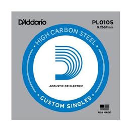 D Addario PL0105 Plain Steel Guitar Single String, .0105