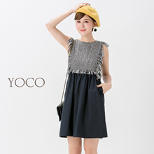 YOCO - Woven Knit Dress-172198-Winter