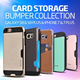 Card Pocket Case★Galaxy S10/S9/S8/Plus/Note 9/iPhoneXS/MAX/XR/8/7/6/Plus/J7Prime/A8 2018 Casing