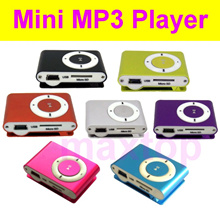 [SG Shipping] Mini Metal Clip MP3 Player support 8GB 16GB 32GB Micro SD Card Free earphone and cable