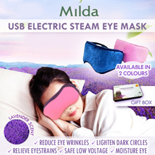 USB Natural Lavender Steam Eye Mask / Pink and Blue / Travels / Office / Home or Gifts