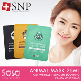 ♥ SNP ♥ ANIMAL MASK 25ML ♥ TIGER WRINKLE ♥ DRAGON SOOTHING ♥ PANDA WHITENING ♥