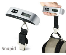 Portable Electronic Digital Travel Hanging Luggage Scale 50kg with Strap/LCD Light