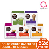 NESCAFE DOLCE GUSTO NDG Coffee and Tea Capsules (Bundle of 5)